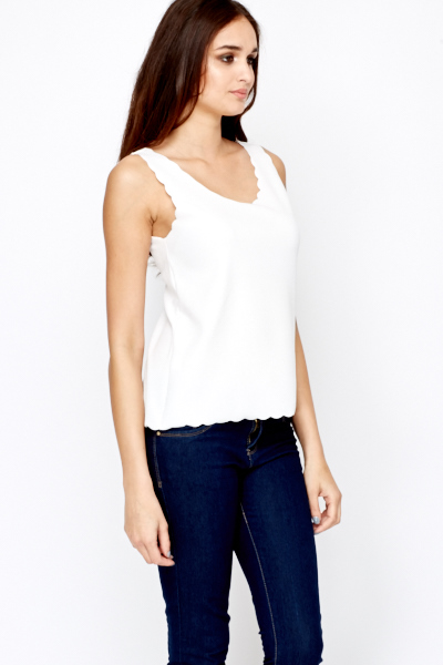 Scallop Trim Vest Top