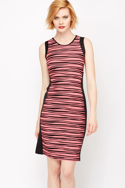 Now is your time to show off your killer style in the Lulus Grand Opportunity Red and Green Multi Striped Bodycon Midi Dress! Lightweight ribbed knit, in a brown, red, green, and beige stripe print, sweeps from slender shoulder straps into a rounded neckline, darted bodice, and a midi-length bodycon .