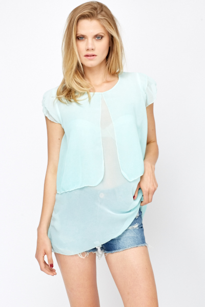 Overlay Sheer Top