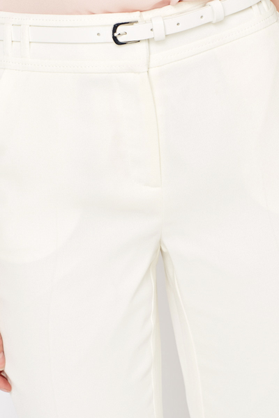 Straight Leg White Trousers