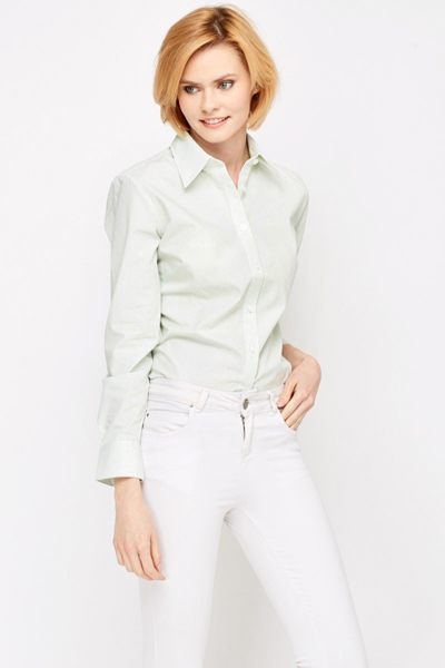 Striped Light Green Shirt