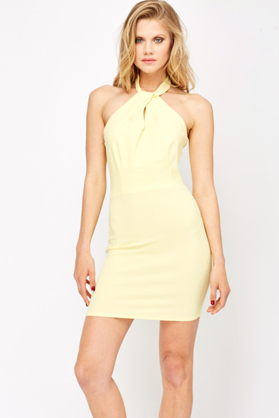 Bodycon Evening Halterneck Dress
