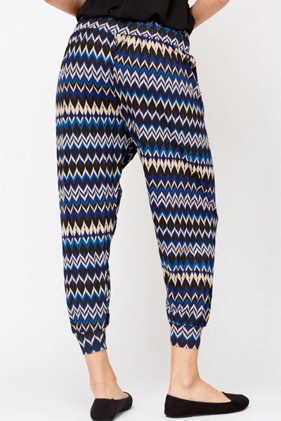Asymmetric Patterned Trousers