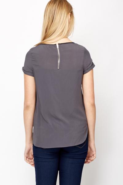 Dark Grey Light Weight Top