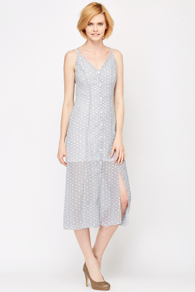 Split Hem Summer Dress