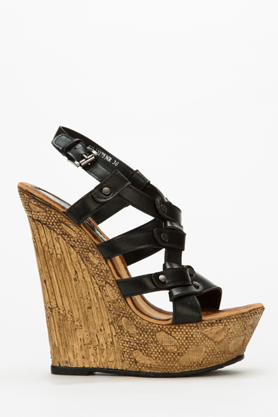 f853cd84dd6 Strappy Cork Wedge Sandals - Just £5