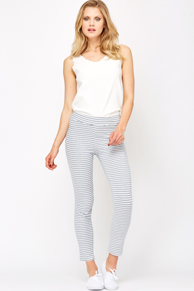 Contrast Striped Leggings