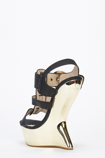 Curve Wedge Strappy Sandals Just 163 5
