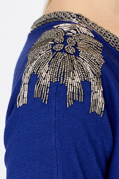 Bead Embellished Sweatshirt
