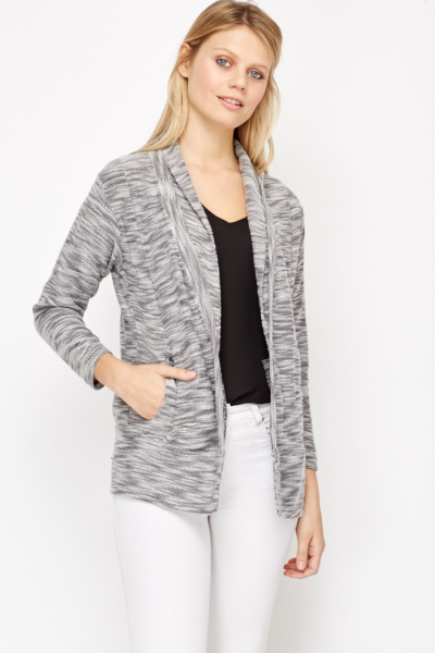 Open Front Woven Cardigan