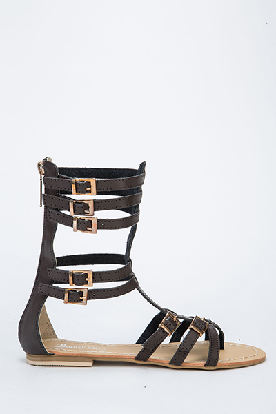 High Top Buckle Gladiator Sandals