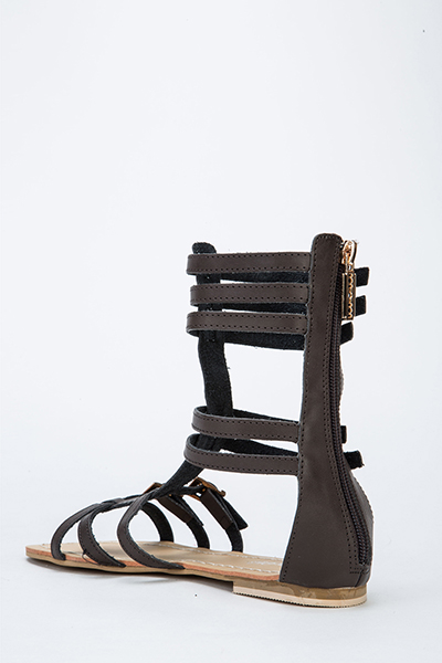 6e1d2e024ad High Top Buckle Gladiator Sandals - Just £5