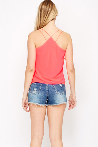 Criss Cross Strap Cami Top