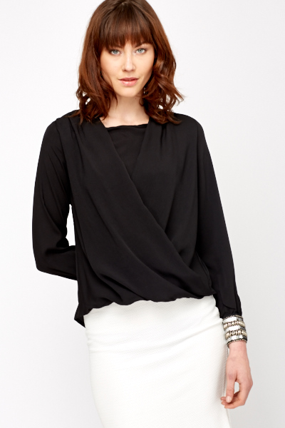Embellished Cuff Draped Top