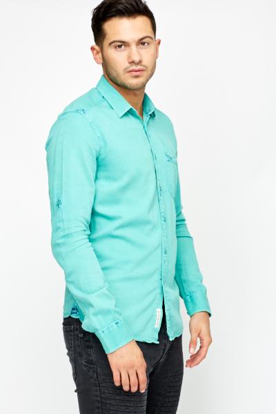 Mint Cotton Mens Shirt - Just £5