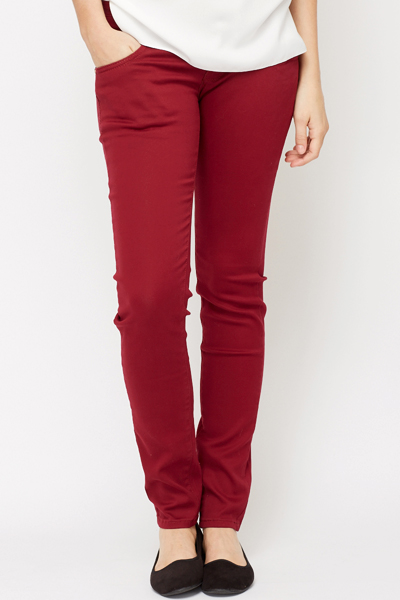 Triple Button Skinny Fit Trousers