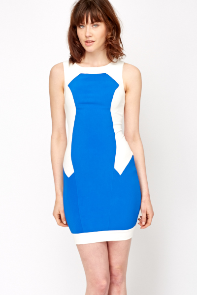 Colour Panel Block Shift Dress