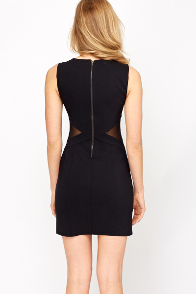 Bodycon Mesh Insert Dress