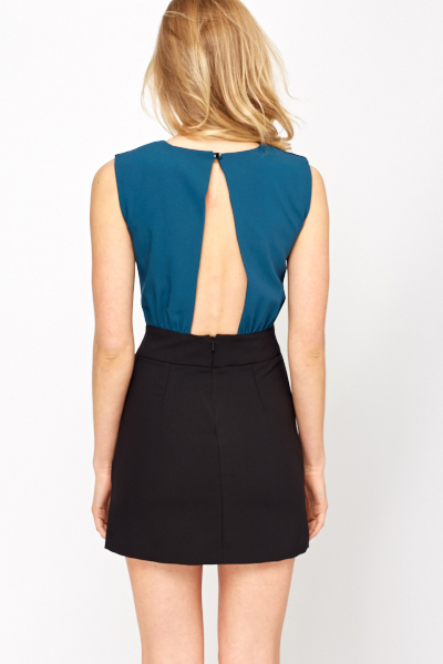 Cut Out Back Formal Dress
