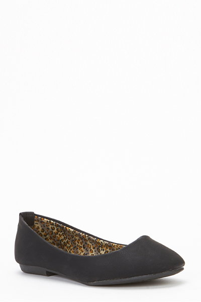 Faux Leather Slip On Pumps