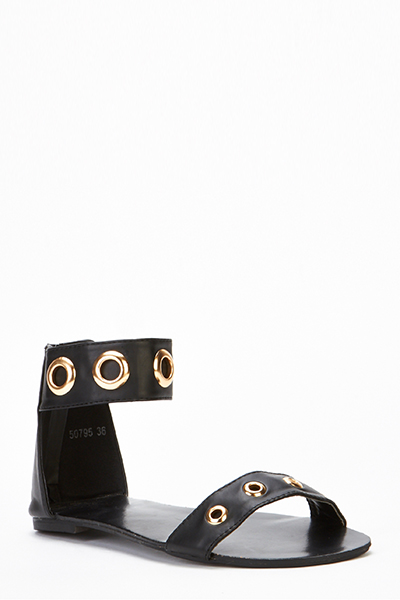 Hole Detail Strappy Sandals