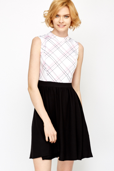 Check Top Office Dress Just