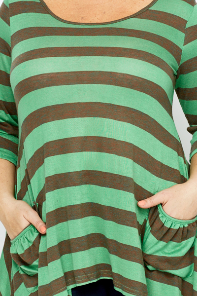 Open Back Striped Tunic