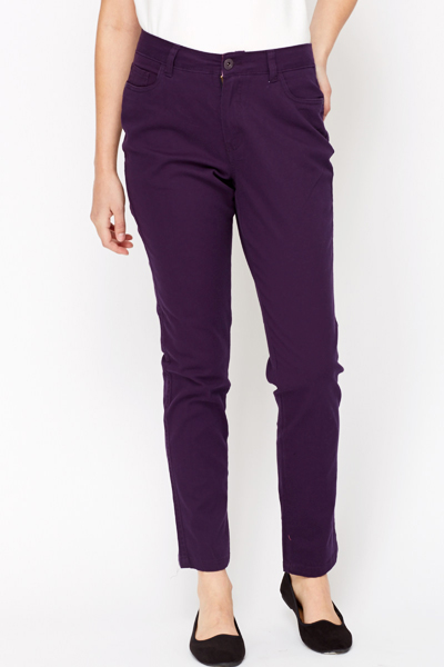 Casual Purple Jeans