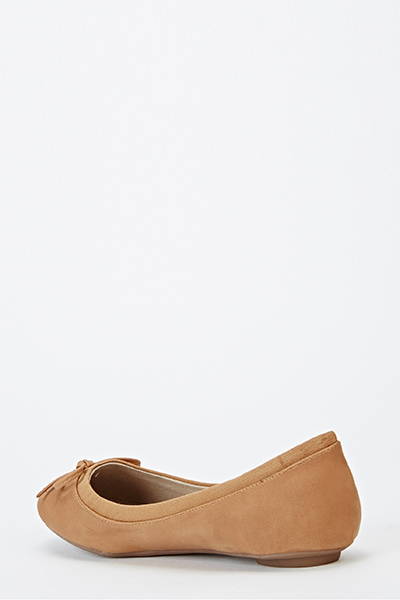 Contrast Front Bow flats