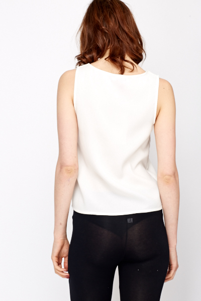 Mesh Front Sleeveless Top