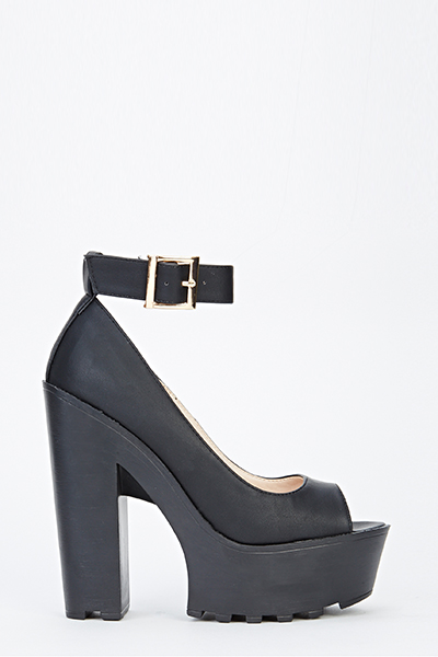 Black Block Heel Platforms