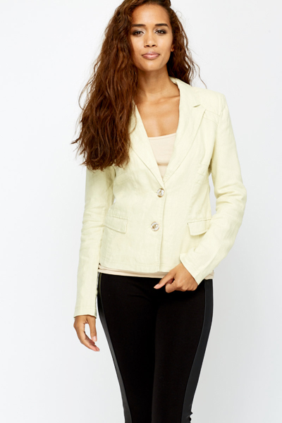 Twin Button Casual Linen Jacket