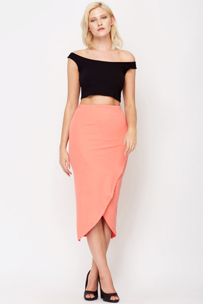 Wrap Front Midi Skirt - Just £5