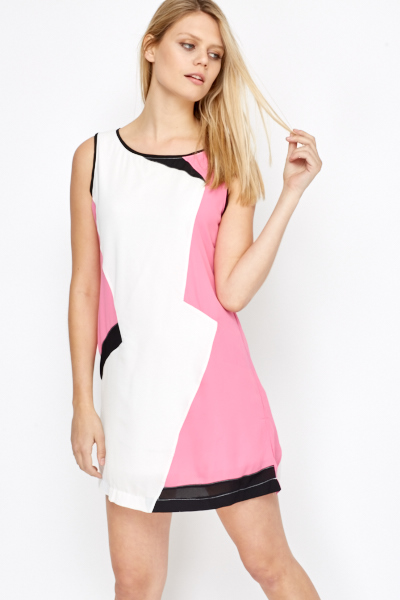 Multi Panel Shift Dress