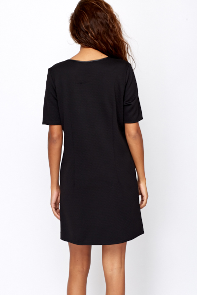 Contrast Zip Shift Dress