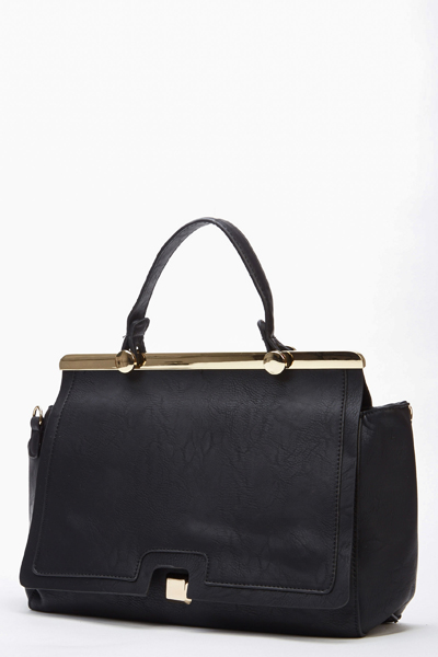 Small Faux Leather Smart Handbag