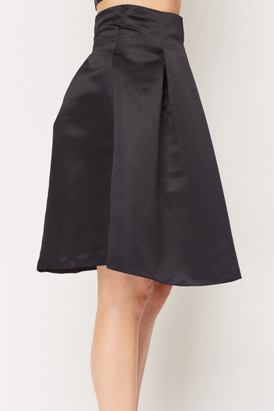Black Evening Flare Skirt
