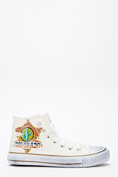 Colorado High Top Canvas Trainers