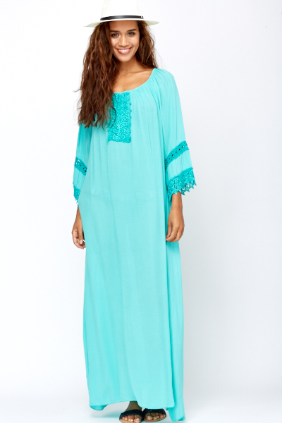 Crochet Insert Maxi Dress