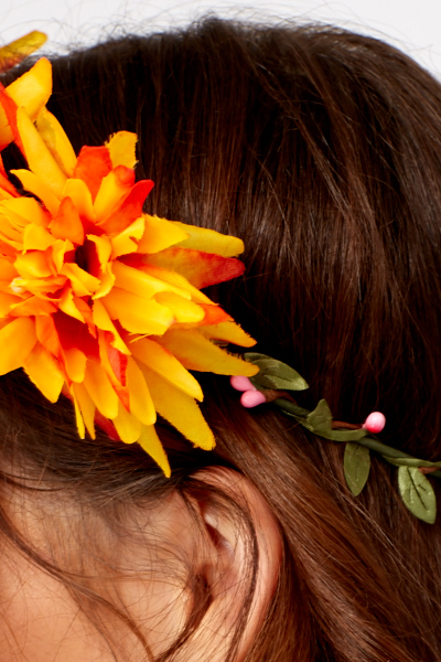 Orange Flower Crown