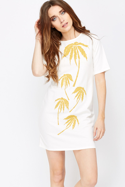 Beaded Palm Tree Dress