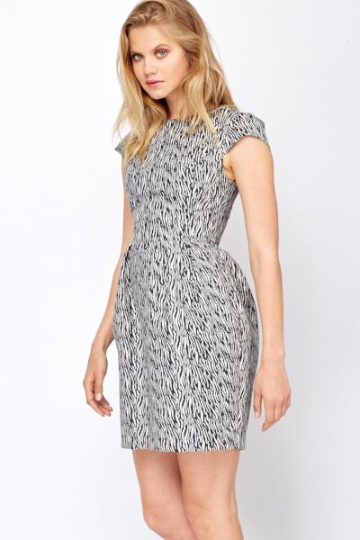 Zebra Print Shimmer Formal Dress Just 5