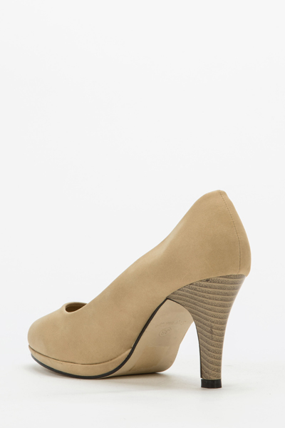 Khaki Court Shoes