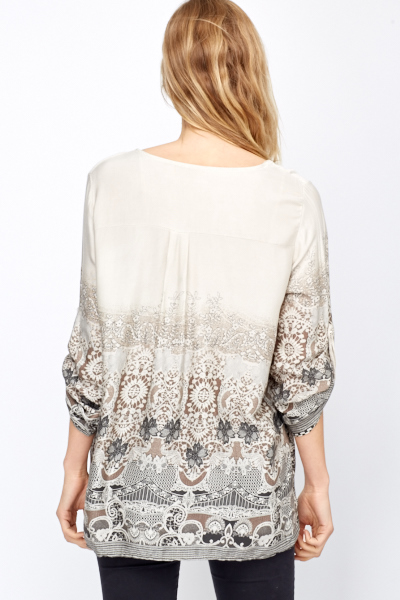 Multi Print Light Weight Blouse