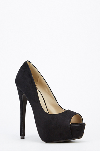 Peep Toe Platform Heels - Just £5