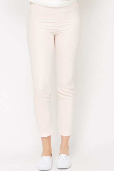 Crepe Slim Fit Cropped Trouser