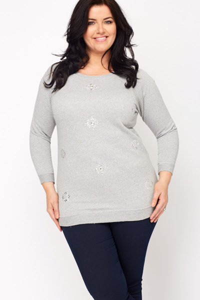 Diamante Encrusted Sweatshirt