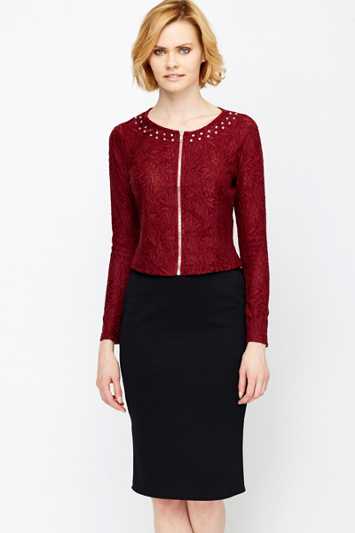 Diamante Neck Lace Jacket