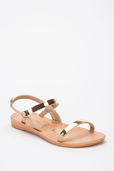 Gold Plated Slingback Sandals
