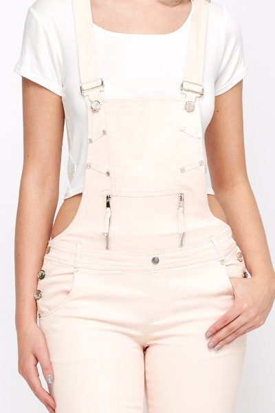 Studded Front Dungarees